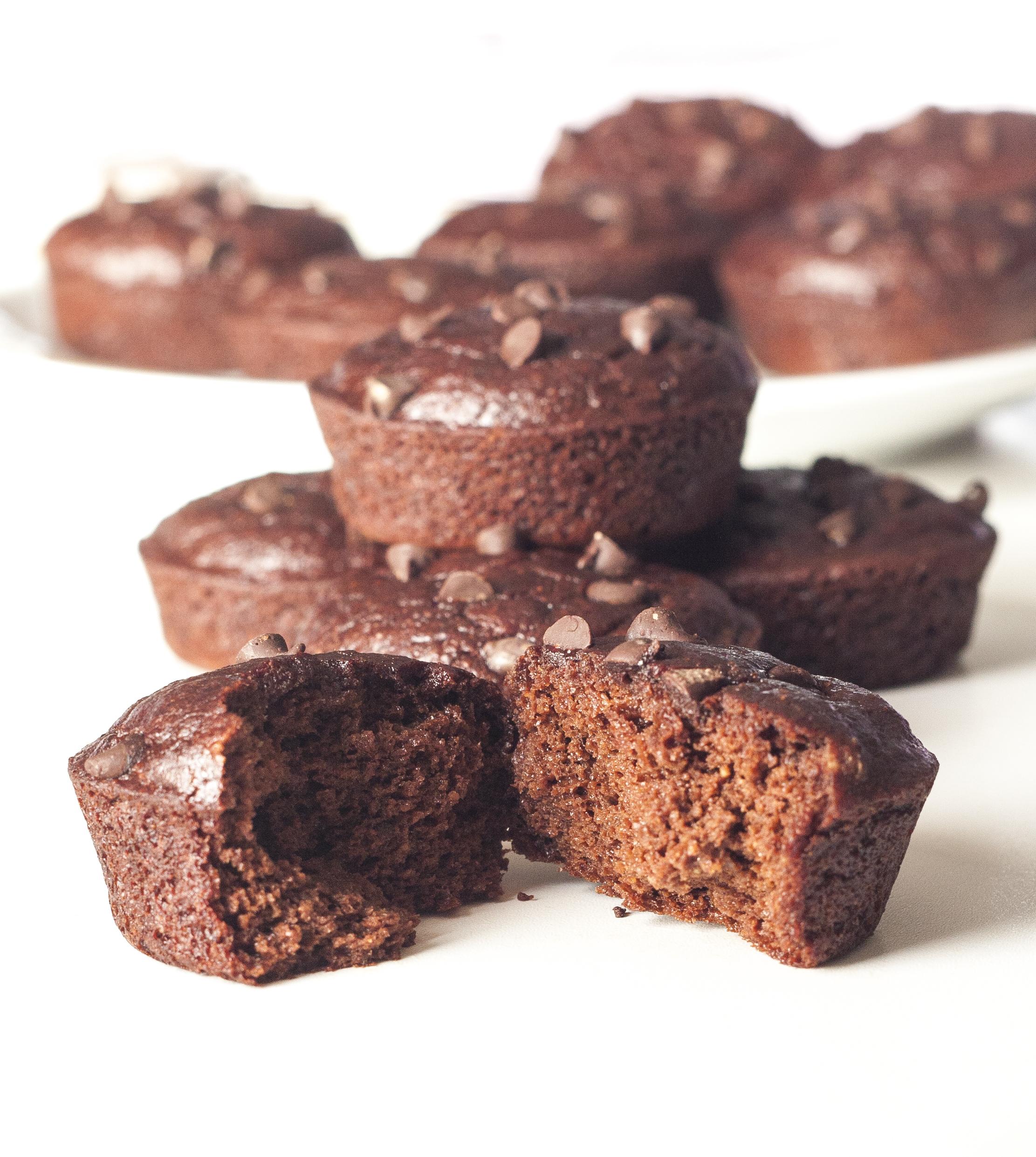 Muffins Beterraba Chocolate